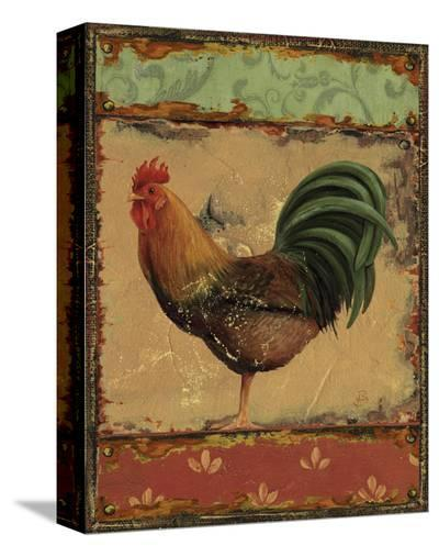Rooster Portraits II-Daphne Brissonnet-Stretched Canvas Print