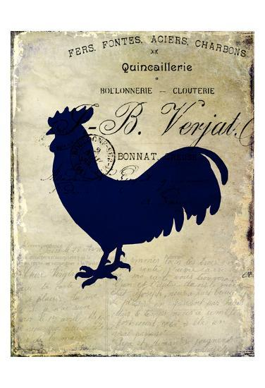 Rooster Silhouette 2-Kimberly Allen-Art Print