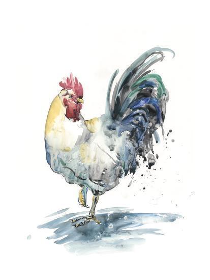 Rooster Splash I-Melissa Wang-Art Print