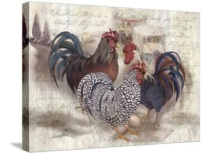 Rooster Trinity-Alma Lee-Stretched Canvas Print