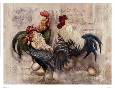 Rooster Trio-Alma Lee-Art Print