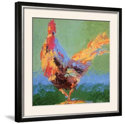 Rooster V-Leslie Saeta-Framed Photographic Print