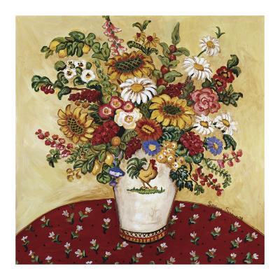 Rooster Vase Floral-Suzanne Etienne-Art Print