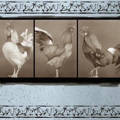 Rooster Ware Aqua II-Kory Fluckiger-Giclee Print