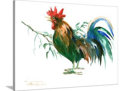 Rooster2-Suren Nersisyan-Stretched Canvas Print