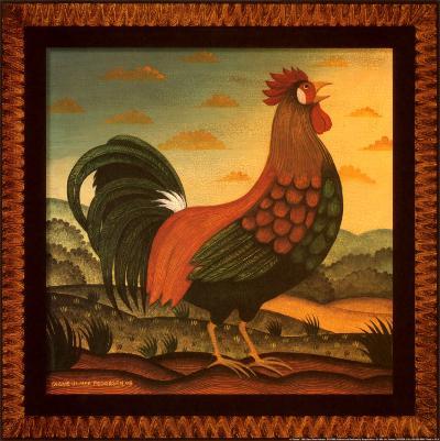 Rooster-Diane Pedersen-Art Print