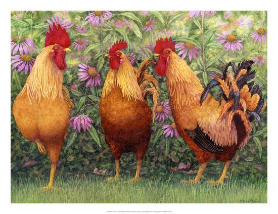 Roosters en Place I-Marcia Matcham-Art Print