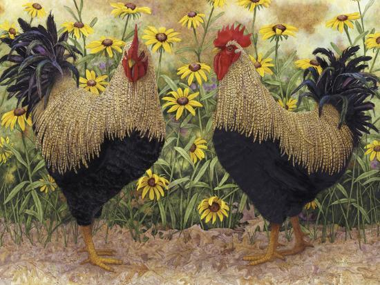 Roosters en Place III-Marcia Matcham-Art Print