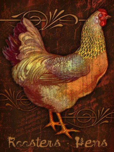Roosters & Hens-Kate Ward Thacker-Giclee Print