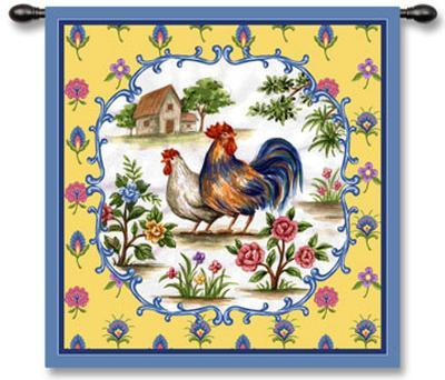 Roosters II--Wall Tapestry