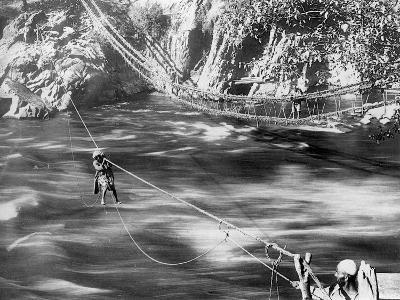 Rope Bridge, Jhelum Valley, Kashmir, India, C1900-F Bremner-Giclee Print