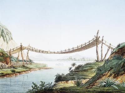 Rope Bridge over the Chambo River at Penipe, Ecuador-Alexander Von Humboldt-Giclee Print