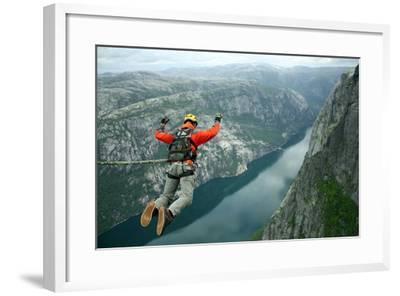 Rope Jumping-Vitalii Nesterchuk-Framed Photographic Print