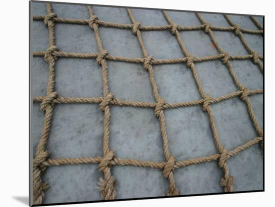 Rope Patterned Textured Background--Mounted Photo