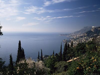 Roquebrune, View Along Coast Towards Monaco, Alpes-Maritimes, Cote d'Azur, Provence, France-Ruth Tomlinson-Photographic Print
