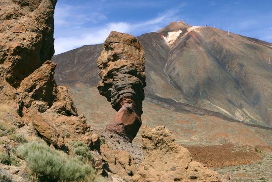 Roques Chinchado, Parque Nacional Del Teide, Tenerife, Canary Islands, 2007-Peter Thompson-Photographic Print