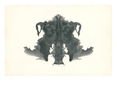 Rorschach Test in Black--Art Print