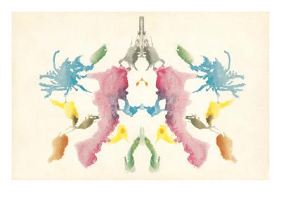 Rorschach Test in Red, Blue, Green and Gray--Art Print
