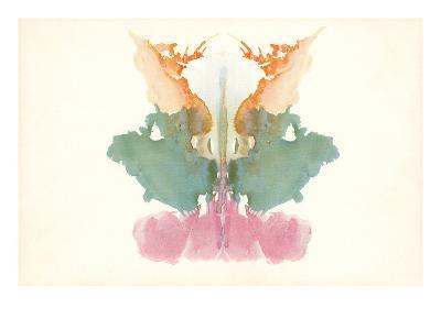 Rorschach Test in Red, Green and Orange--Art Print