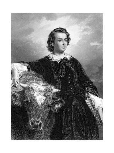 Rosa Bonheur and Cow--Giclee Print