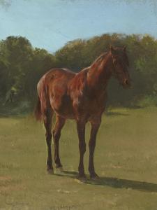 Etude de cheval bai cerise by Rosa Bonheur