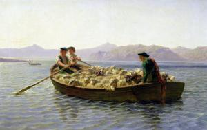 Rowing-Boat, 1863 by Rosa Bonheur