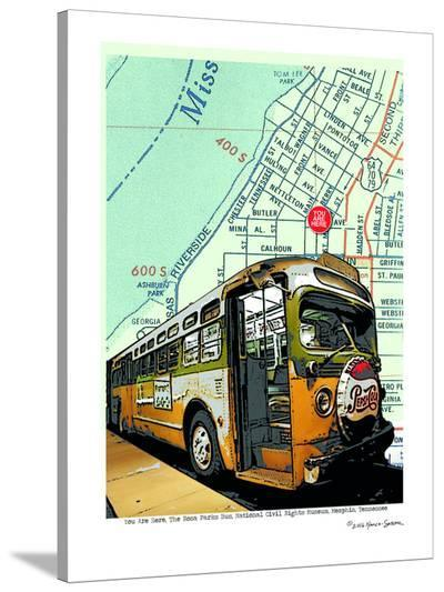 Rosa Parks Bus--Stretched Canvas Print