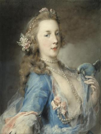A Young Lady with a Parrot, C.1730