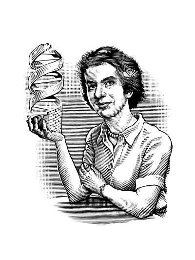 Rosalind Franklin, British Chemist-Bill Sanderson-Giclee Print