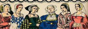Portraits of Henry VIIIs six wives from 1509, (1932) by Rosalind Thornycroft