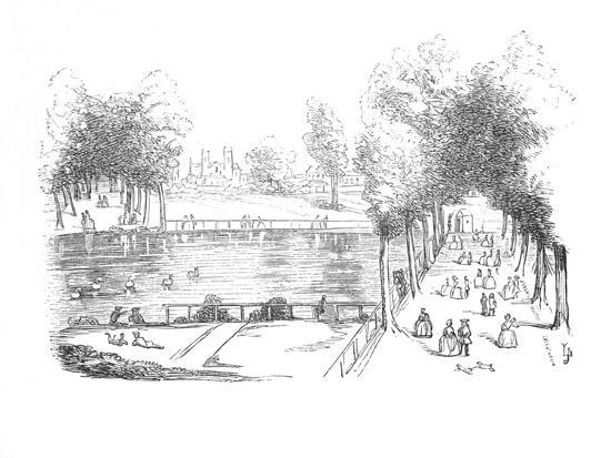'Rosamond's Pond in 1740', c1870-Unknown-Giclee Print