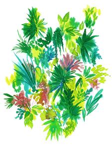 Artistic Watercolor Flowers. Tropical Elements. by rosapompelmo