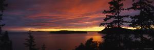 Rosario Strait at Dusk, San Juan Islands, Fidalgo Island, Skagit County, Washington, USA
