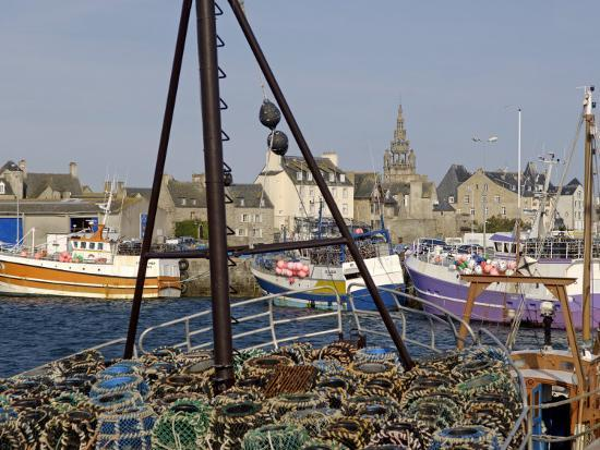 Roscoff Harbour, North Finistere, Brittany, France, Europe-De Mann Jean-Pierre-Photographic Print