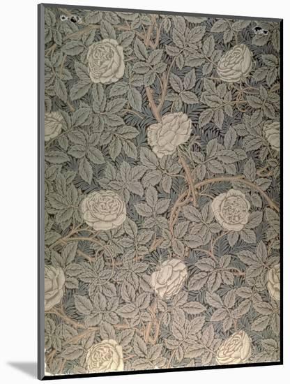 """Rose-90"" Wallpaper Design-William Morris-Mounted Premium Giclee Print"