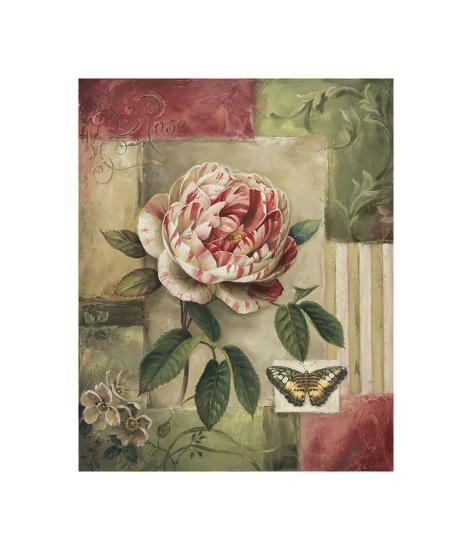 Rose and Butterfly-Lisa Audit-Giclee Print