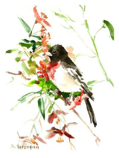 Rose Breasted Grosbeak-Suren Nersisyan-Art Print
