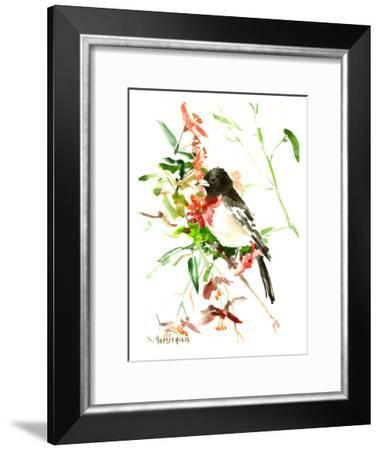 Rose Breasted Grosbeak-Suren Nersisyan-Framed Art Print