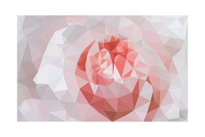 Rose Closeup in Low Poly Style-lamyai-Art Print