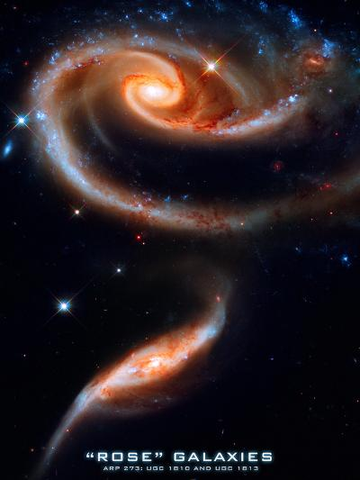 Rose Galaxies Hubble Space Photo Poster Print--Poster