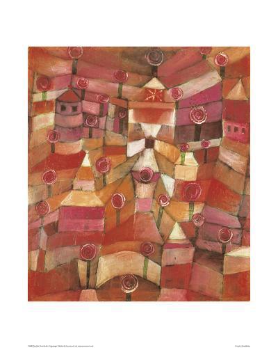 Rose Garden-Paul Klee-Giclee Print