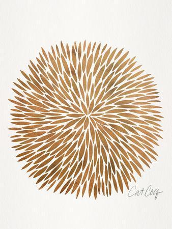 Rose Gold Burst-Cat Coquillette-Art Print