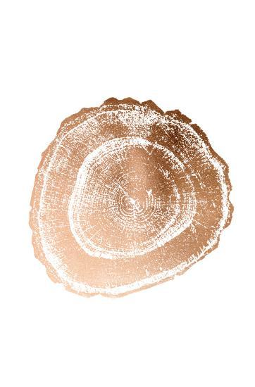 Rose Gold Foil Tree Ring III-Vision Studio-Art Print