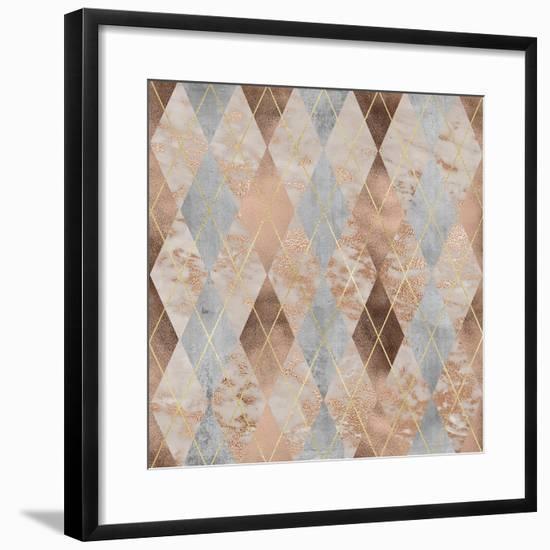 Rose Gold Marble--Framed Art Print