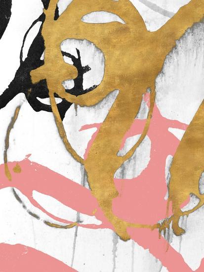 Rose Gold Strokes I-Megan Morris-Art Print