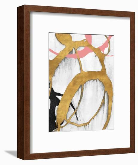 Rose Gold Strokes II-Megan Morris-Framed Art Print