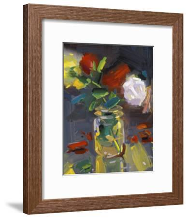 Rose Jar-John Erickson-Framed Art Print