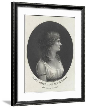 Rose  Joséphine Bonaparte, née de la Pagerie--Framed Giclee Print