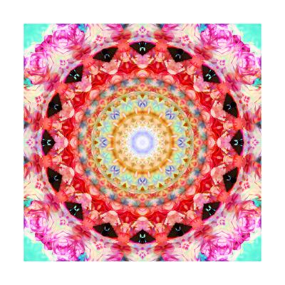 Rose Mandala 2-Alaya Gadeh-Art Print