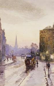 Catching the Tram in Nassau Street, Dublin by Rose Maynard Barton